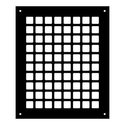 Square Series 10 in. x 8 in. Steel Grille, Black with Mounting Holes