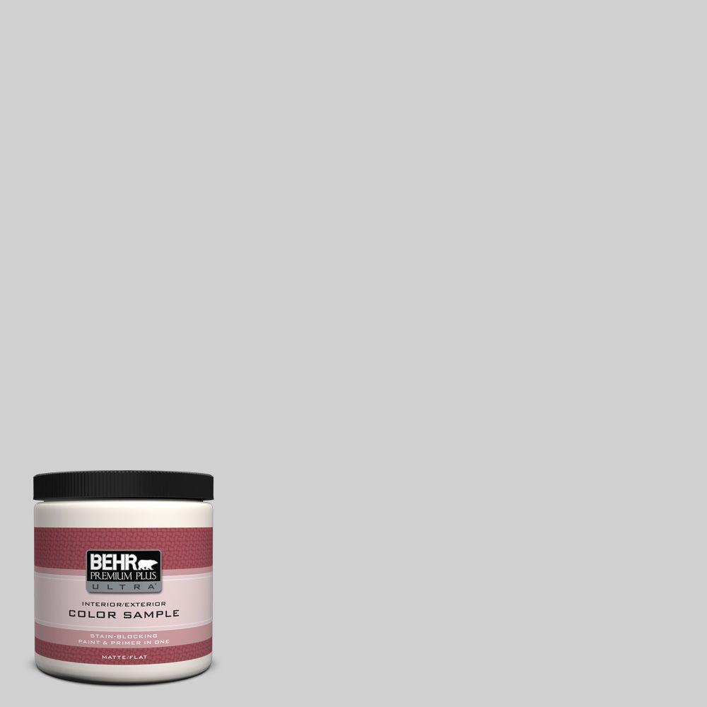 8 oz. #N520-1 White Metal Flat Interior/Exterior Paint and Primer in