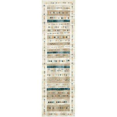 Chimera Painted Beige 3' 0 x 10' 0 Runner Rug