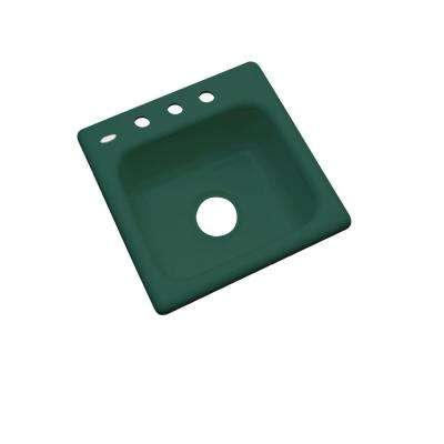 Manchester Drop-In Acrylic 16 in. 3-Hole Single Bowl Bar Sink in Rain Forest