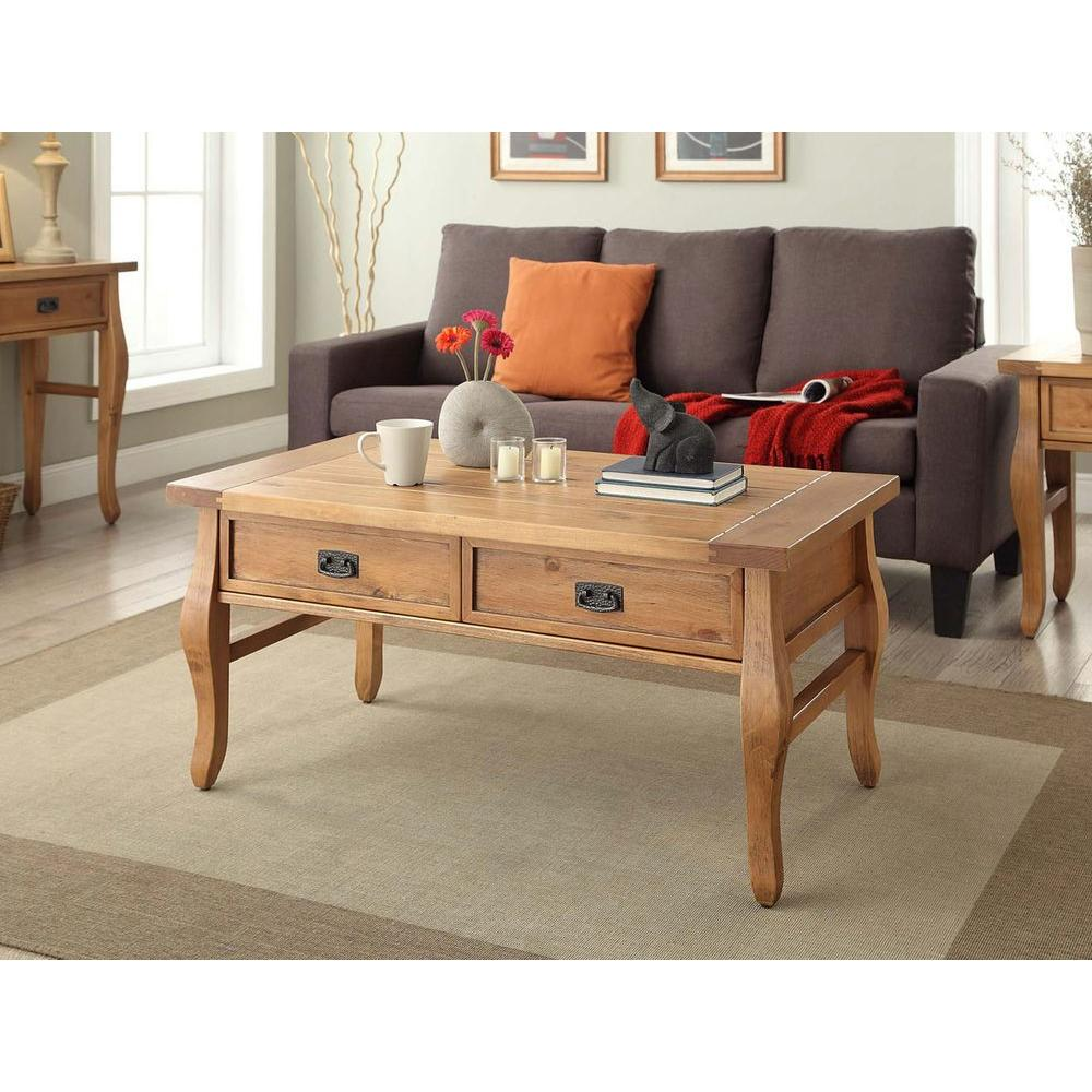 Linon home decor santa fe antique pine coffee table 76055ant01u linon home decor santa fe antique pine coffee table geotapseo Choice Image