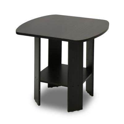 Simple Design Espresso End Table (2-Set)