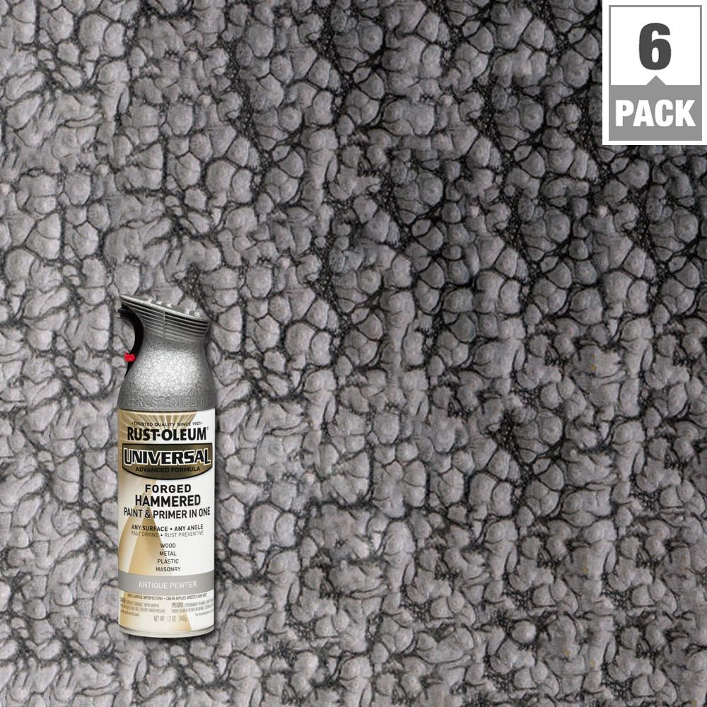 12 oz. All Surface Forged Hammered Antique Pewter Spray Paint and