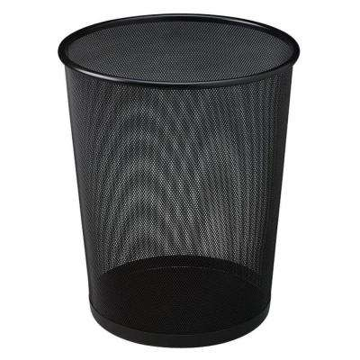 5 Gal. Black Round Steel Mesh Trash Can