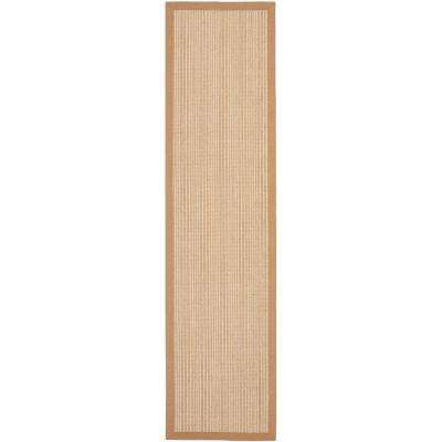 Natural Fiber Tan 2 ft. x 10 ft. Rug Runner