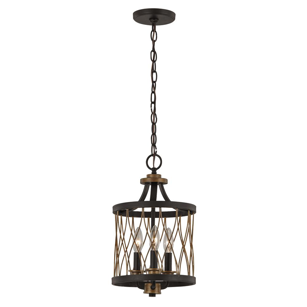 Bel Air Lighting Tahoe 3 Light Rubbed Oil Bronze Pendant