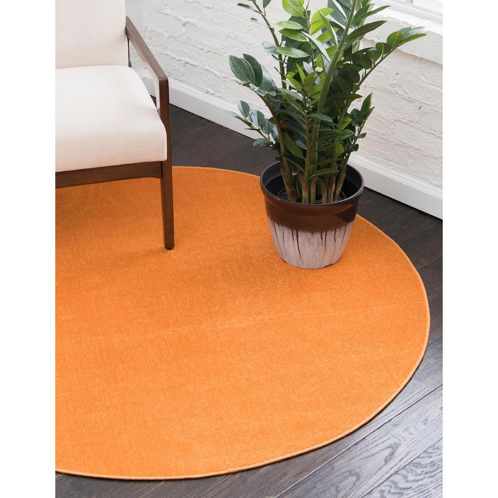 Round Orange Area Rugs The