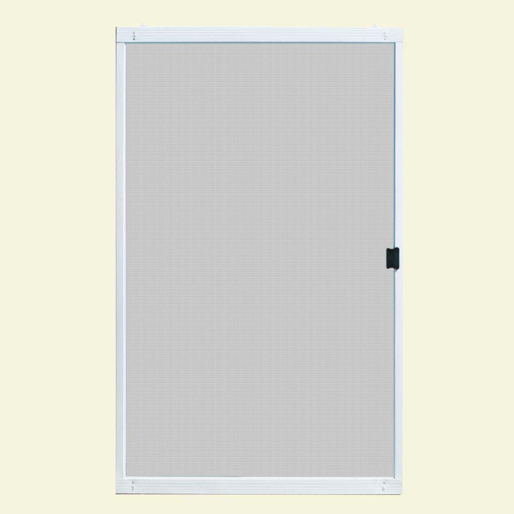 Unique home designs 48 in x 80 in standard white metal - 30 x 80 exterior door with pet door ...