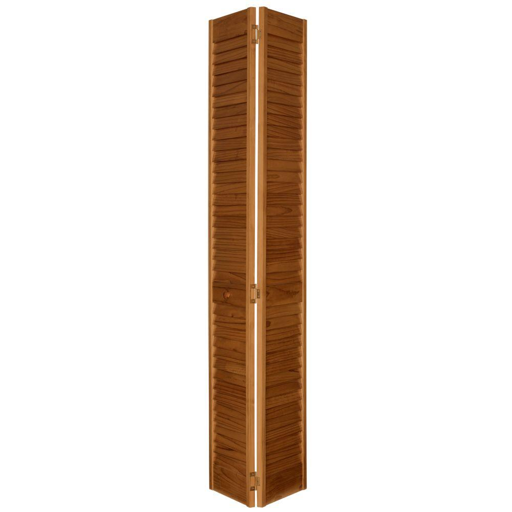 32 in. x 80 in. Louver/Louver MinWax Early American Solid Wood