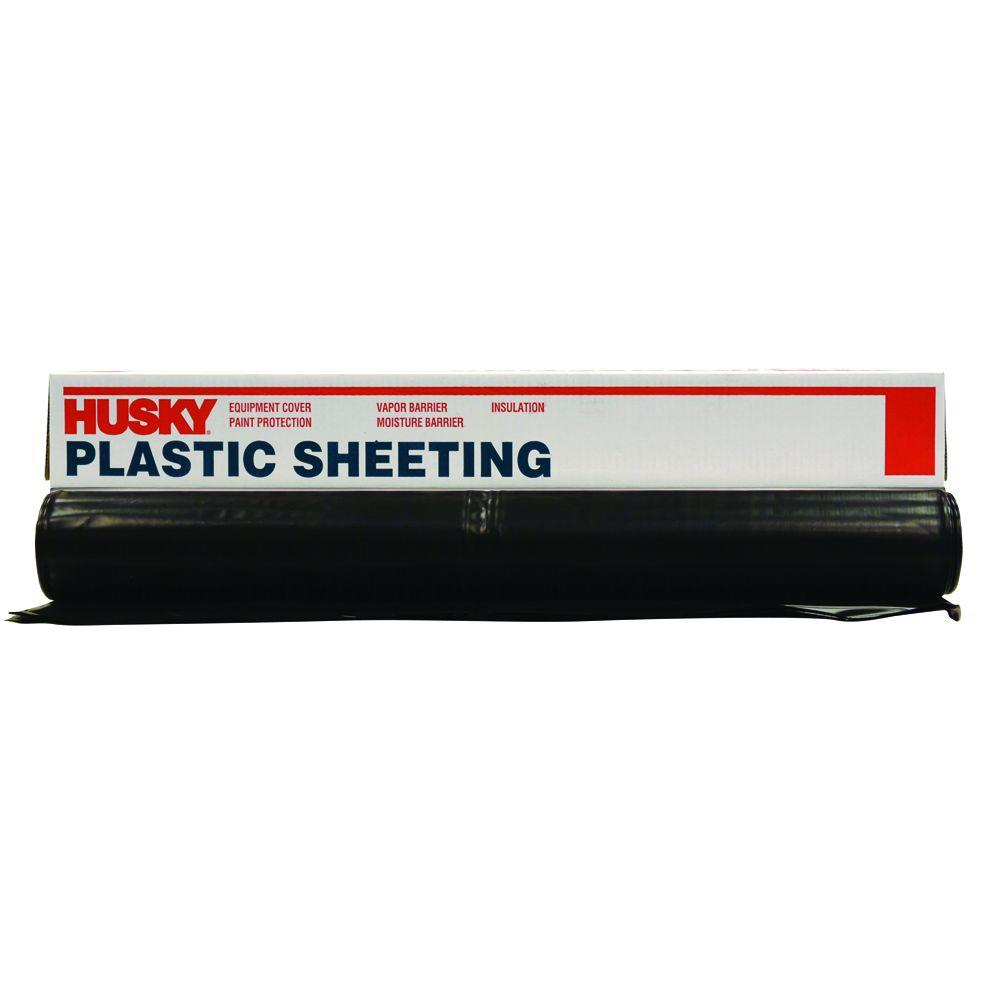 Polyethylene Plastic Sheeting for Equipment Cover Vapor Barrier Insulation Black