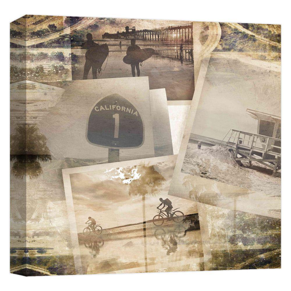 15.inx15.in ''Los Angeles Polaroid Collage B'' Printed Canvas Wall Art