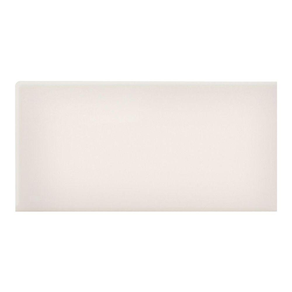 Rittenhouse Square 3 in. x 6 in. White Ceramic Bullnose Right