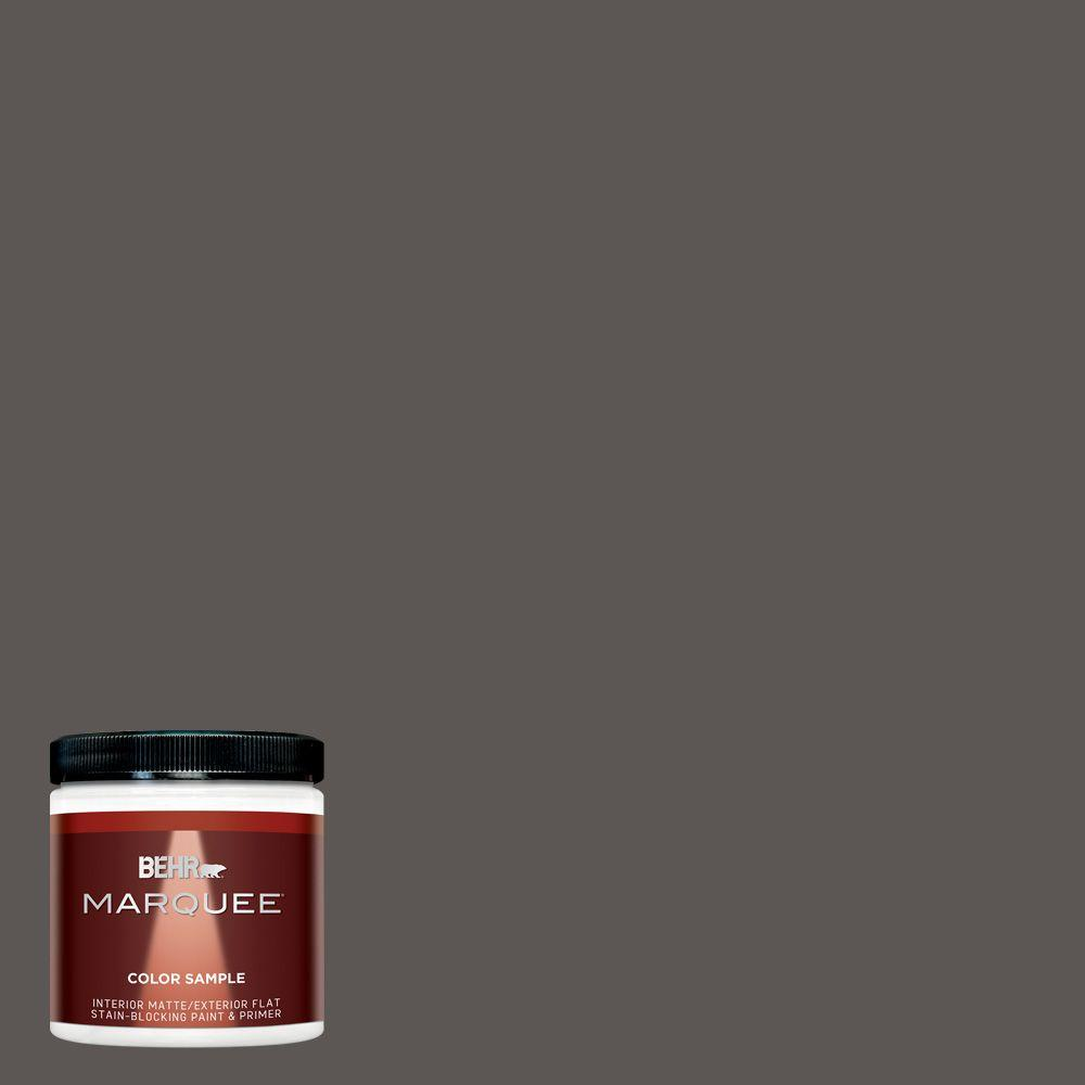 8 oz. #MQ2-62 Peppery Matte Interior/Exterior Paint and Primer in One