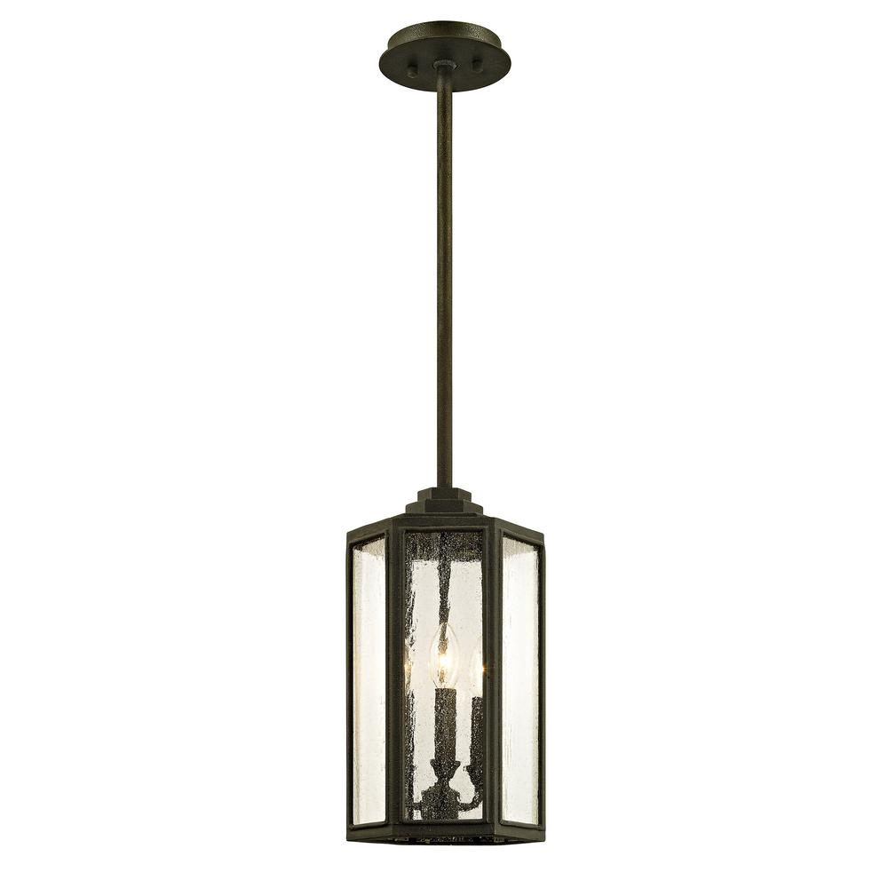 Hancock Vintage Bronze 3-Light 8.5 in. W Outdoor Hanging Light with