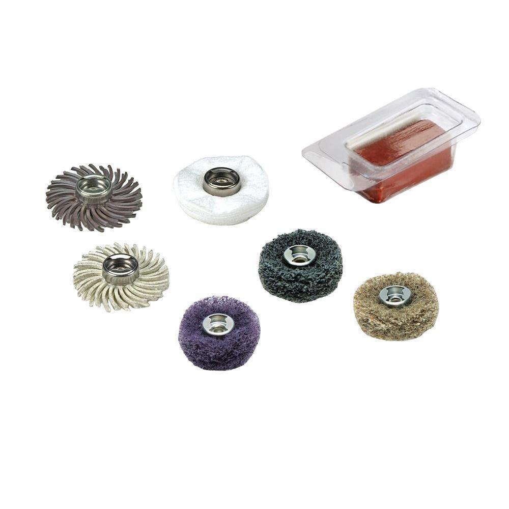 Dremel EZ Lock Sanding and Polishing Mini Kit for Metal, Steel, Wood, Brass, Aluminum, Plastics, and Vinyl (7-Piece)