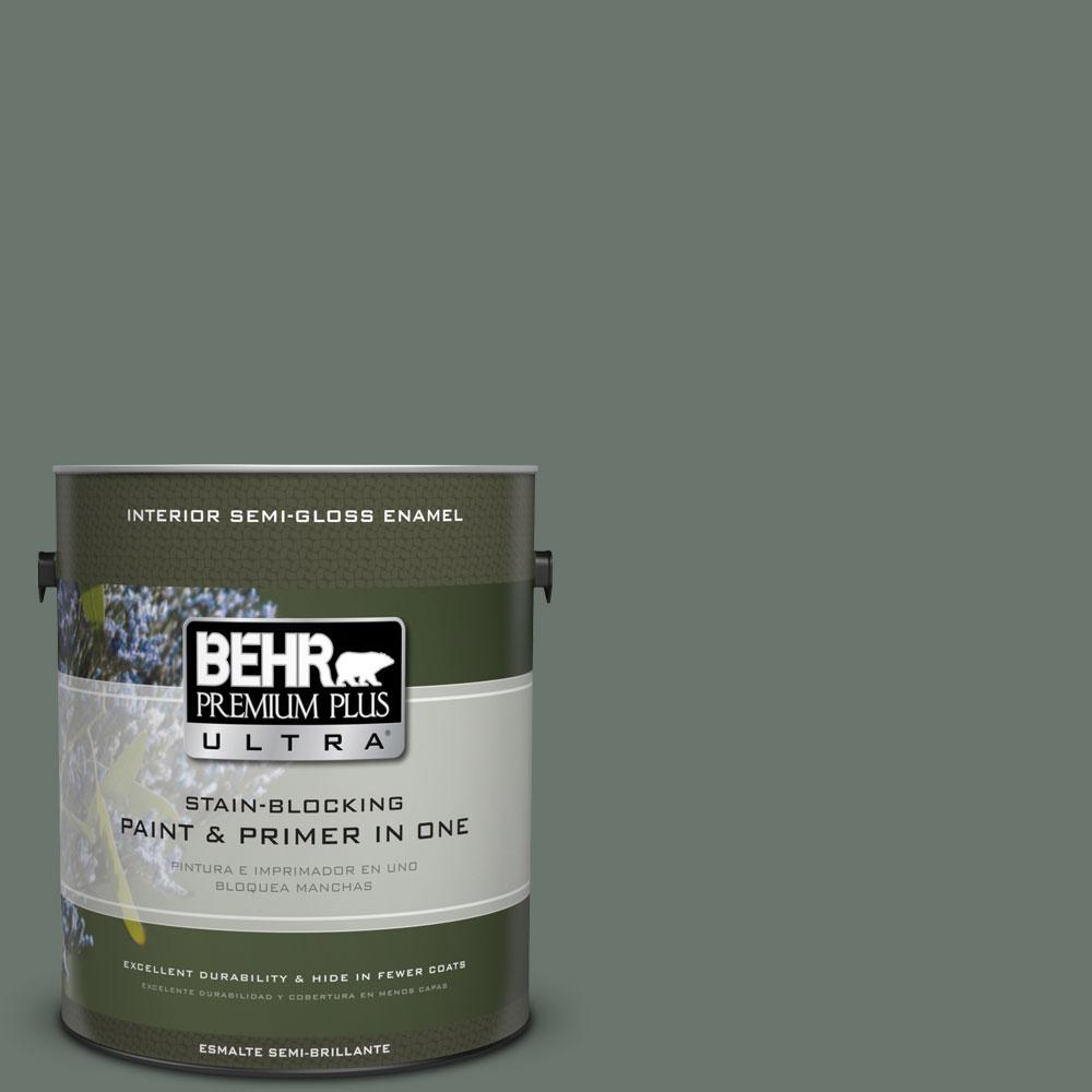 BEHR Premium Plus Ultra 1 gal. #PPU12-18 Heritage Park Semi-Gloss Enamel Interior Paint and Primer in One