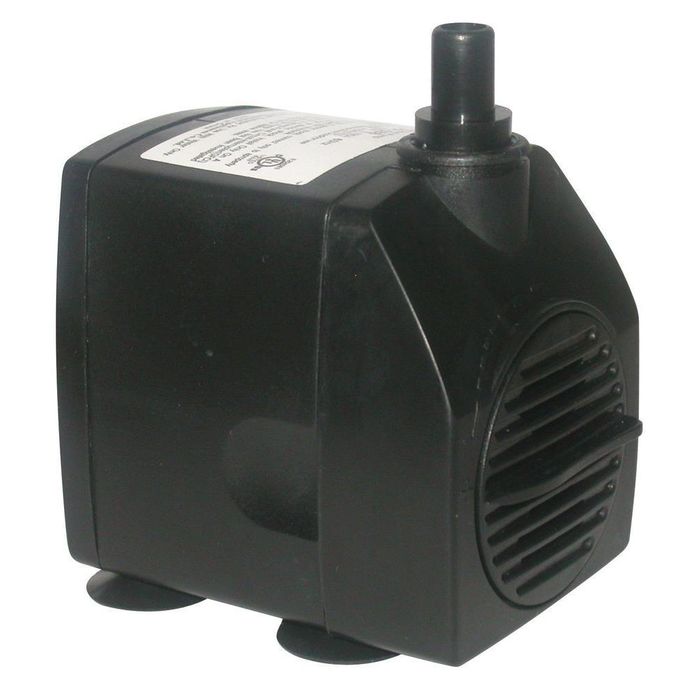 Outdoor Decor Power Head Pump for Small to Medium Fountains, Statuary, and Birdbaths