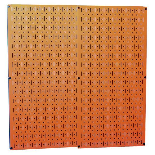 32 in. x 32 in. Overall Size Orange Metal Pegboard Pack with Two 32 in. x 16 in. Pegboards
