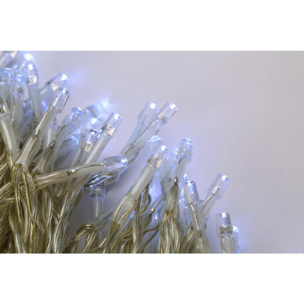 35 ft. 100-Light Cool White LED Built-In Timer Decorative Battery String Light
