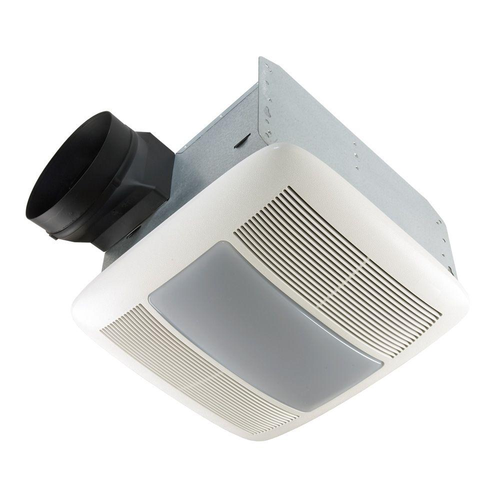 QT Series Very Quiet 80 CFM Ceiling Bathroom Exhaust Fan with Light and Night Light,