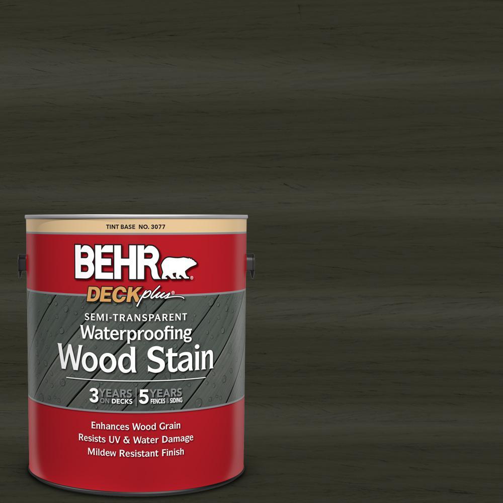 BEHR DECKplus 1 gal. #ST-108 Forest Semi-Transparent Waterproofing Exterior Wood Stain