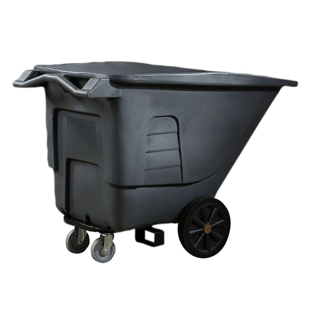 Toter 1/2 Cubic Yard 400 lbs. Capacity Utility Duty Tilt Truck - Gray