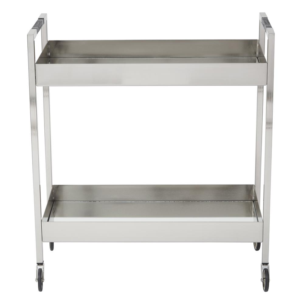 069bd6a095d OSP Designs Wilshire Brushed Nickel Stainless Cart-WIL4160-BN - The Home  Depot
