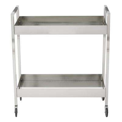 Wilshire Brushed Nickel Stainless Cart