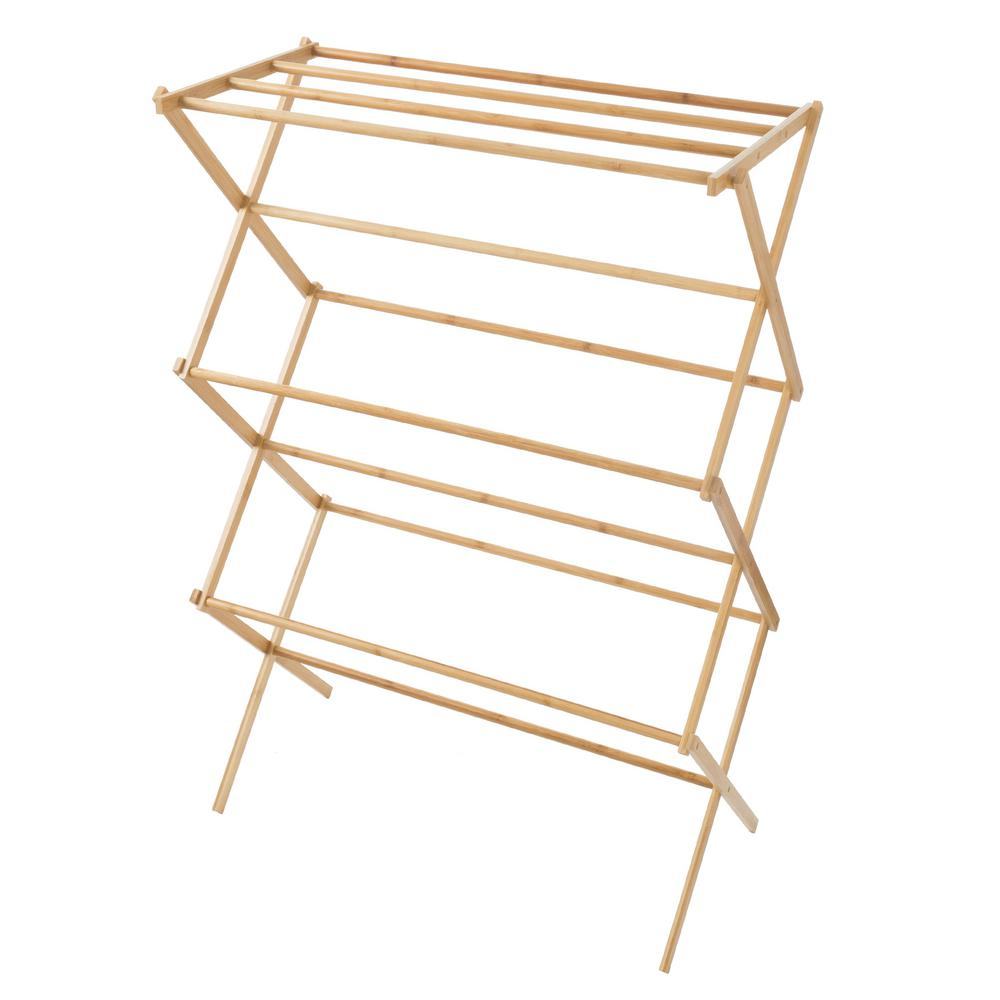 Wooden Clothes Rack: Lavish Home 14.25 In. X 27.5 In. Bamboo Wooden Garment