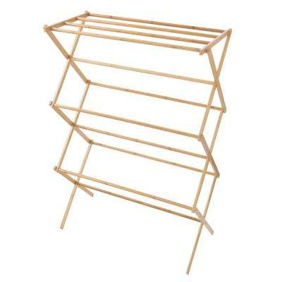 14.25 in. x 27.5 in. Bamboo Wooden Garment Rack