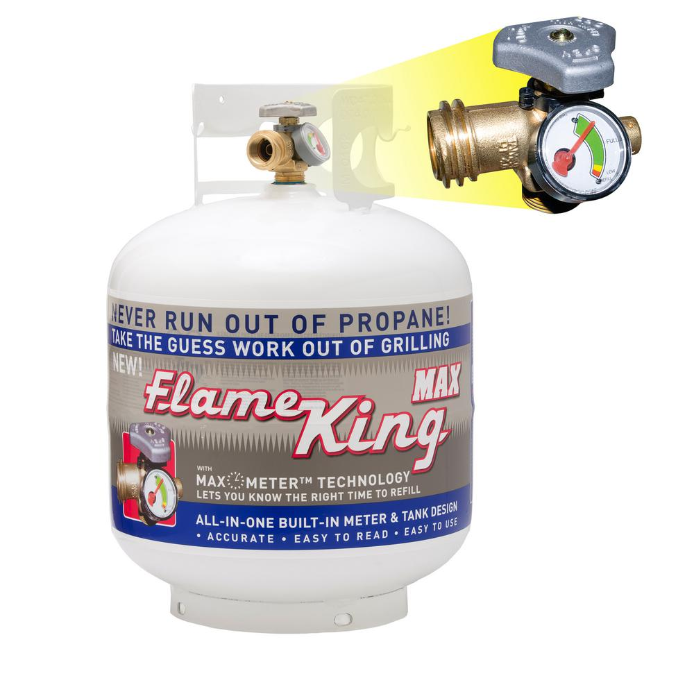 Flame King 20 lb. Empty Propane Cylinder with Overflow Protection Device and Built-in Gauge