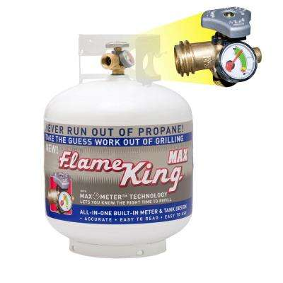20 lb. Empty Propane Cylinder with Overflow Protection Device and Built-in Gauge