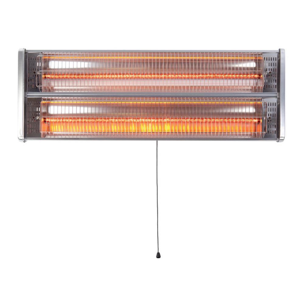 Asab 2kw Electric Patio Garden Heater, Outdoor Halogen Heat Lamp
