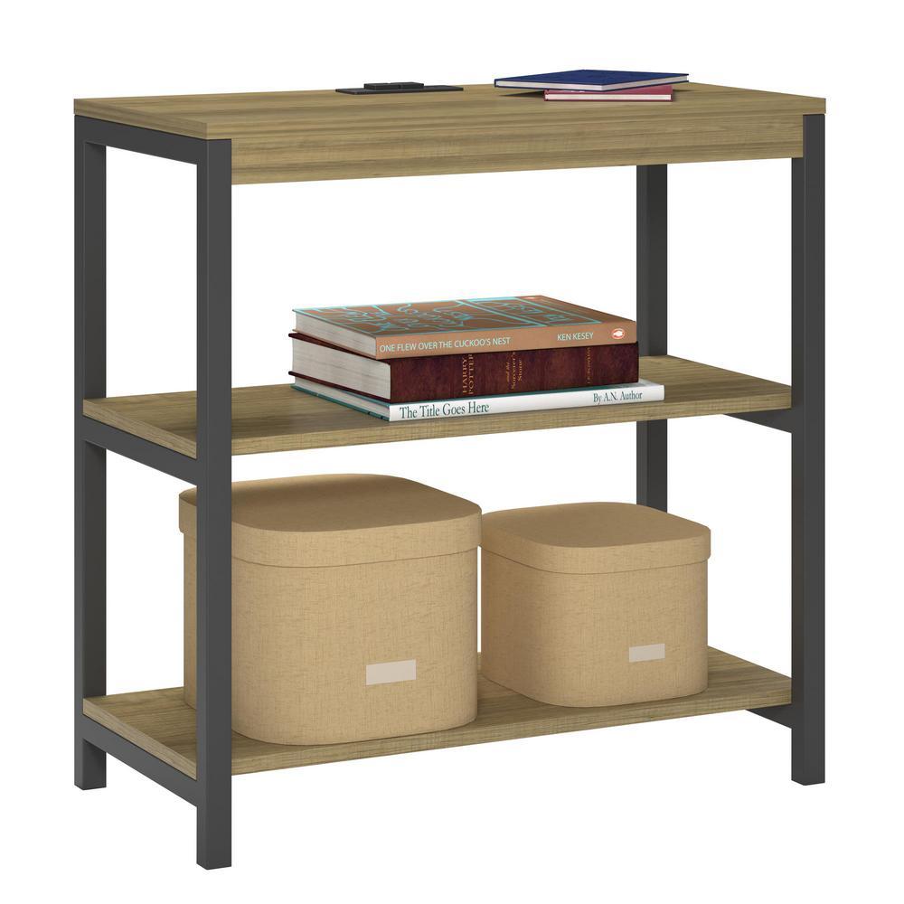 Ameriwood Cumbria Golden Oak 3 Shelf Bookcase Hd90922 The
