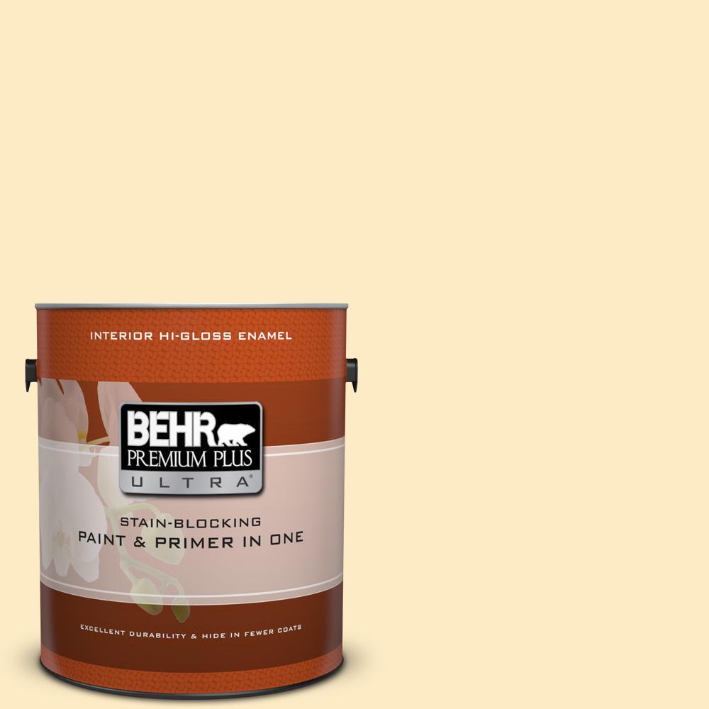 1 gal. #P260-2 Yogurt Hi-Gloss Enamel Interior Paint