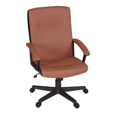 Mesa Toffee/Black Vinyl Swivel Chair