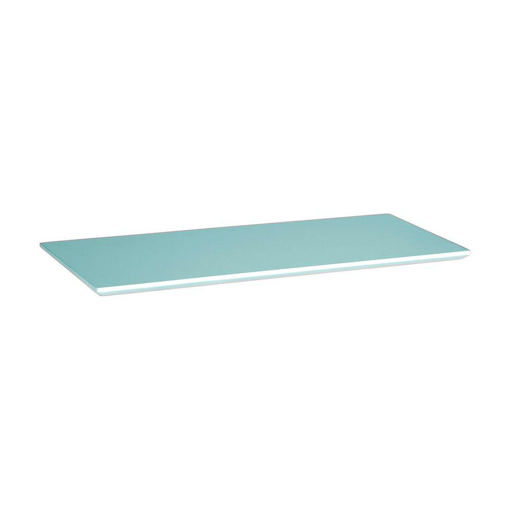 Home Decorators Collection 37.5 in. Pool Blue Mantel Top for Folding and Stacking Bookcase
