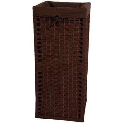 Mocha Natural Fiber Laundry Trunk