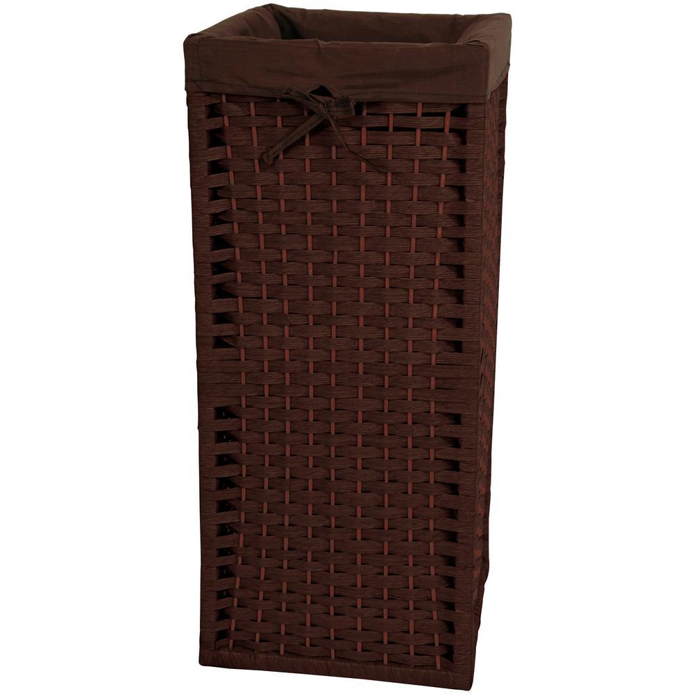 Oriental Furniture Mocha Natural Fiber Laundry Trunk JH09-130-MOC