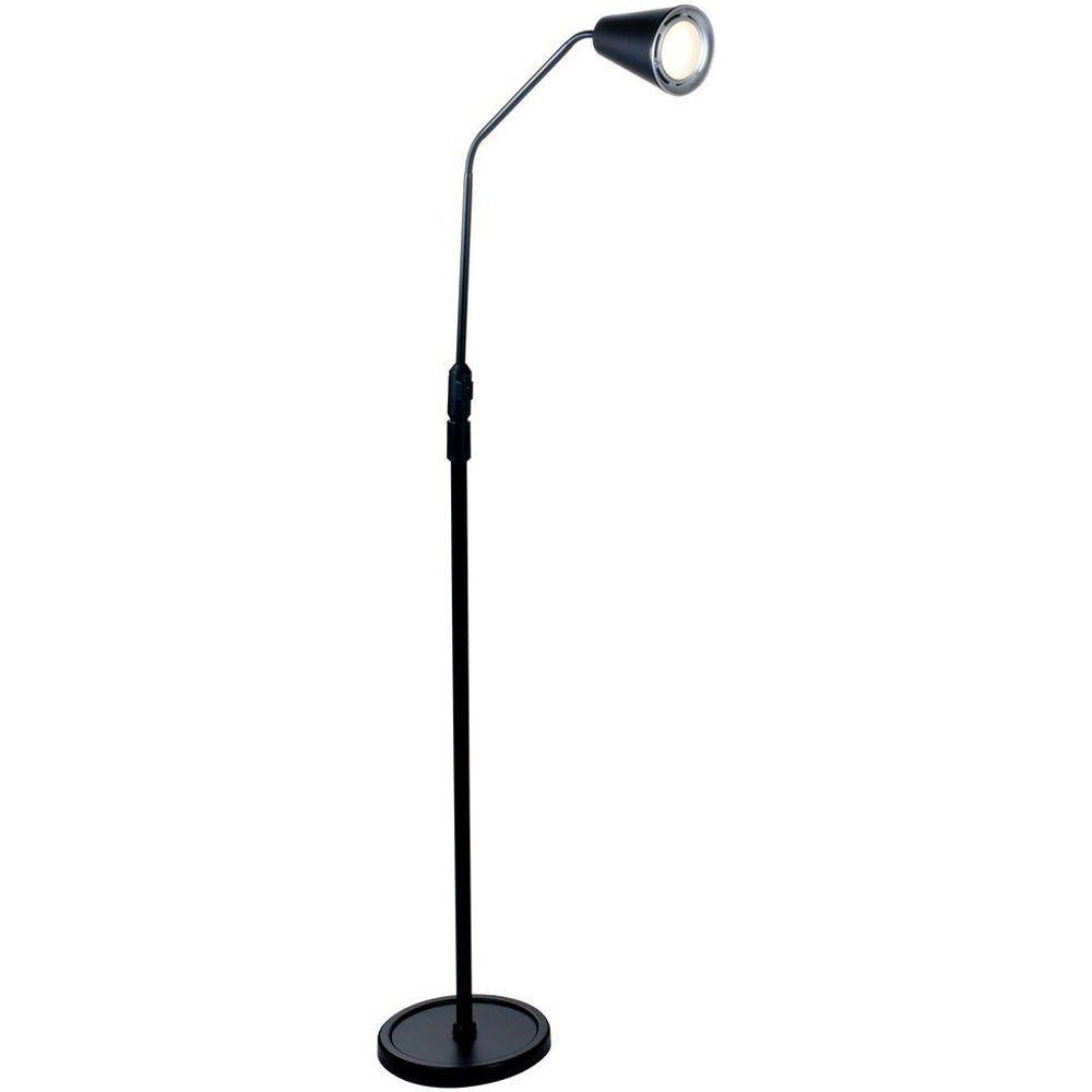 Black led flexible adjustable floor lamp