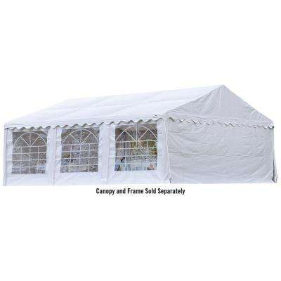 20 ft. x 20 ft. White Enclosure Kit with Windows for Party Tent (Party Tent Sold Separately)