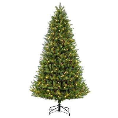 4.5 ft. Pre-Lit Incandescent Glacier Fir Artificial Christmas Tree with 250 UL-Listed Clear Lights