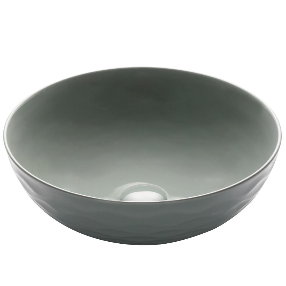 KRAUS Viva 16-1/2 in. Round Porcelain Ceramic Vessel Sink in Gray was $129.95 now $99.95 (23.0% off)