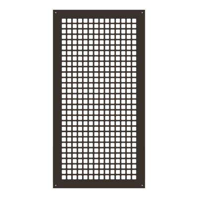 Square Series 30 in. x 14 in. Steel Grille, Oil Rubbed Bronze with Mounting Holes