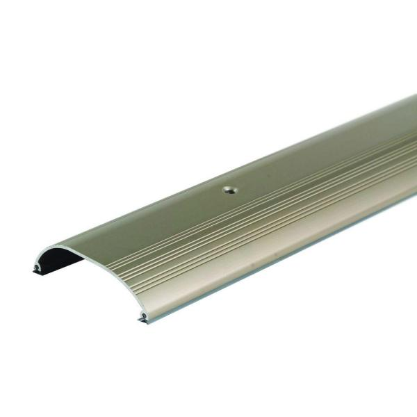 High Dome Top 4 in. x 60-1/2 in. Satin Nickel Aluminum Threshold