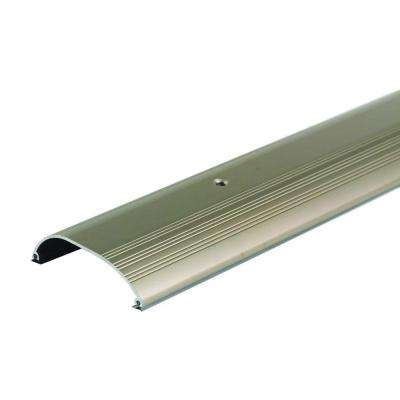 High Dome Top 4 in. x 96 in. Satin Nickel Aluminum Threshold