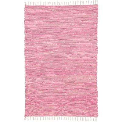 Pink Chenille 4 ft. x 6 ft. Area Rug
