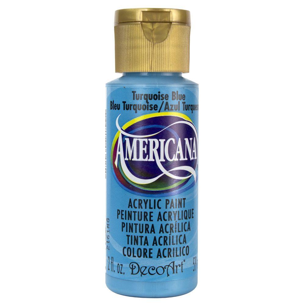 Americana 2 oz. Turquoise Blue Acrylic Paint