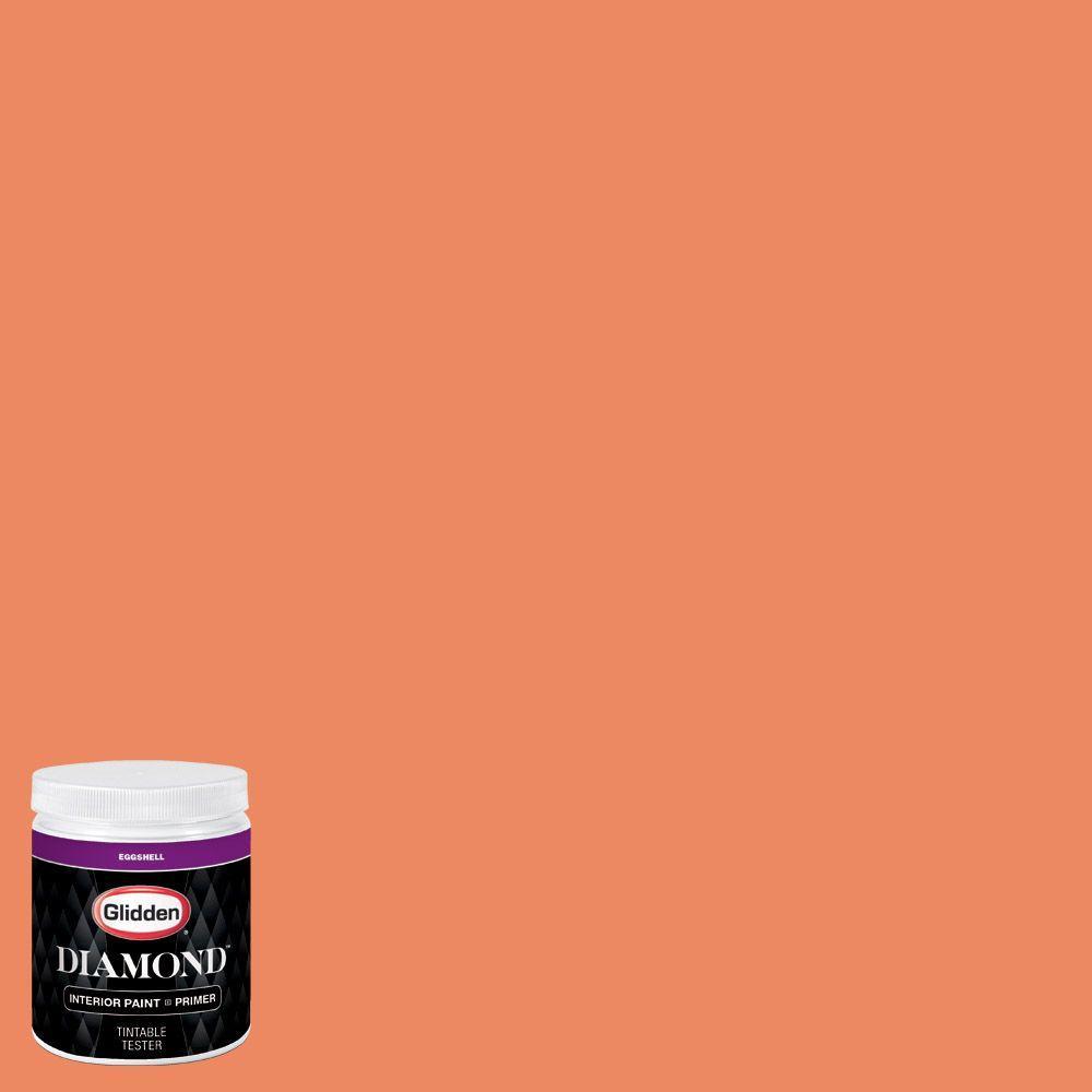Glidden diamond 8 oz hdgo15 sunbaked orange eggshell for Orange paint samples