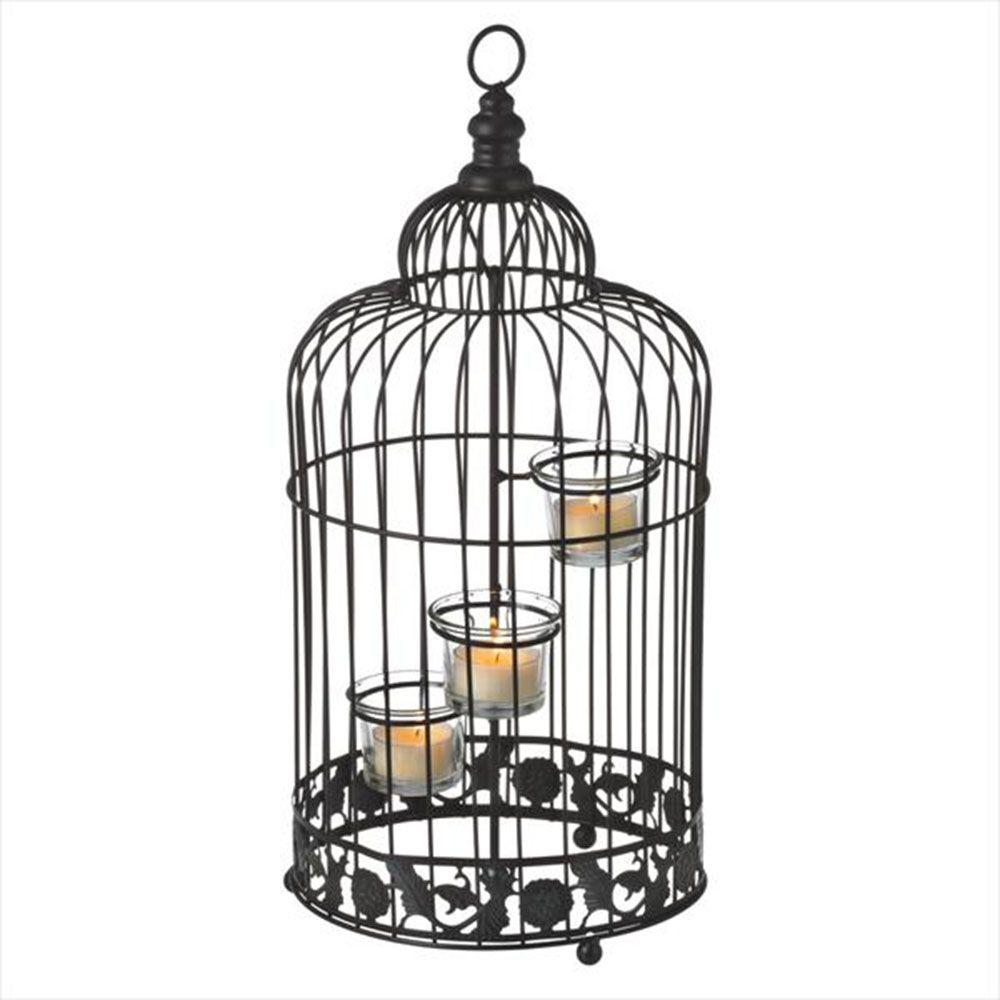 Filament Design Sundry 17 in. Black Tea Light Candle Holder-DISCONTINUED